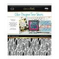 Deco Foil Clear Toner Sheets 8.5\u0022X11\u0022 4/Pkg-Endless Leaves