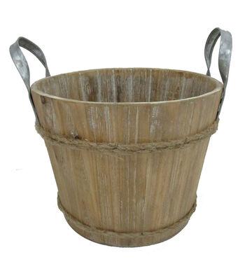 Blooming Autumn Large Wooden Bucket