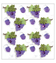 Jolee's Mini Repeats Stickers-Wine Glass and Grapes, , hi-res