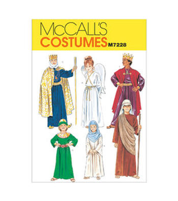 McCall's Pattern M7228 Childrens' Nativity Scene Costumes