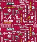 University of Alabama Crimson Tide Cotton Fabric 44\u0022-Glitter