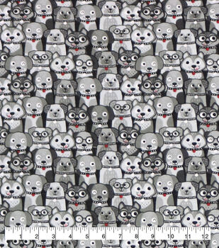 Super Snuggle Flannel Fabric-Happy Dog Faces