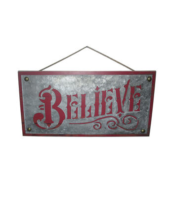 Maker's Holiday Christmas Wall Decor-Believe