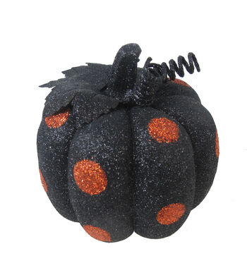 Maker's Halloween Small Pumpkin-Orange Dots
