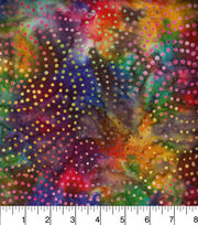 Legacy Studio Indonesian Batiks Cotton Fabric -Dotted Swirls Black, , hi-res