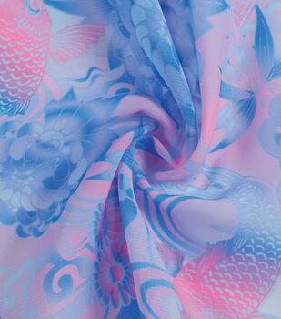 Yaya Han Cosplay Chiffon Fabric 59''-Light Blue & Pink Koi