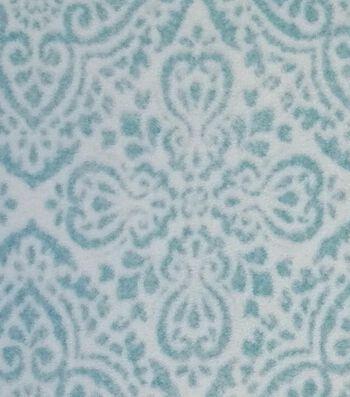 Luxe Fleece Fabric-Aqua Tiles