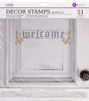 """Iron Orchid Designs Decor Clear Stamps 12""""X12""""-Alpha II"""