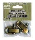 Parachute 2 pk Shackle Buckles for Paracord Bracelet-Antique Brass