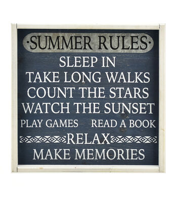Camp Ann Wall Decor-Summer Rules