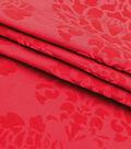 Embossed Velvet Fabric -Red