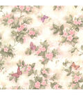 Mariposa Pink Blossom/Butterfly  Wallpaper Sample