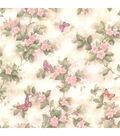 Mariposa Pink Blossom/Butterfly  Wallpaper