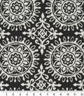 Rober Allen @ Home Upholstery Swatch-Suzani Strie Black & White