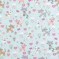 Blizzard Fleece Fabric-Floral Cats