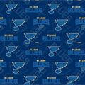 St. Louis Blues Cotton Fabric-Tone on Tone