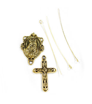 Blue Moon Findings Findings Metal Rosary Kit Antique Gold