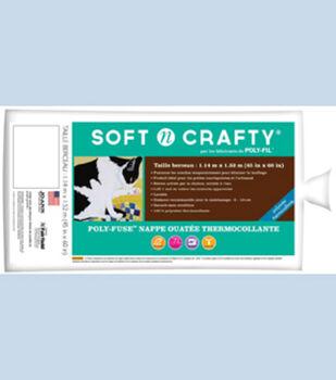 """Fairfield Soft N Crafty Poly-Fuse Batting 45""""x60"""""""
