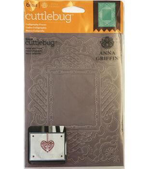 Cricut Cuttlebug Anna Griffin Calligraphy Frame 5x7 Embossing Folder