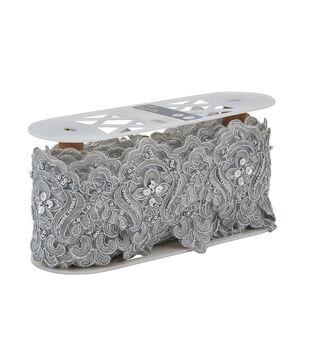 Yaya Han Collection Silver Fae Bead Lace