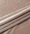 Velvet Burnout Fabric-Pink Thin Stripes