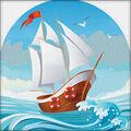 RTO Diamond Mosaic Embroidery Kit 15X15cm-On The Sea Waves