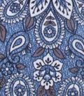 No Sew Fleece Throw 72\u0022-Denim Paisley
