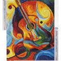 Leisure Arts Diamond Art Advanced Kit 14.57\u0027\u0027X18.5\u0027\u0027-Guitar