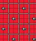 University of Georgia Bulldogs Flannel Fabric 42\u0022-Plaid