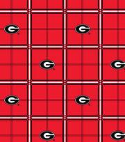 "University of Georgia Bulldogs Flannel Fabric 42""-Plaid, , hi-res"