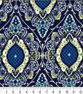 Keepsake Callico Cotton Fabric-Athansius Peacock