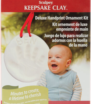 Sculpey Keepsake Clay Hand Print Ornament Kit