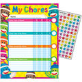 Sock Monkeys Chore Charts, 25 Per Pack, Pack of 6