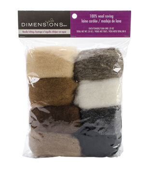 Feltworks Roving Value Pack 2.8oz-Earth Tone