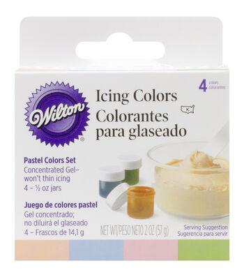 Wilton Icing Colors 4/Pkg-Moss Green/Conflower Blue/Peach/Petal Pink