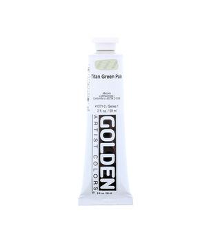 Golden Artist Colors 2 fl. oz. Heavy Body Acrylic Paint-Titan Green Pale