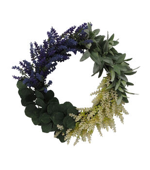 Fresh Picked Spring 22'' Lavender & Greenery Wreath