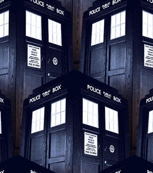 Doctor Who Cotton Fabric -Tardis