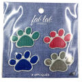 Fab Lab Wearables 4 pk Paw Print Iron-on Appliques-Multi