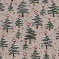 Christmas Cotton Fabric-Zig Zag Christmas Trees