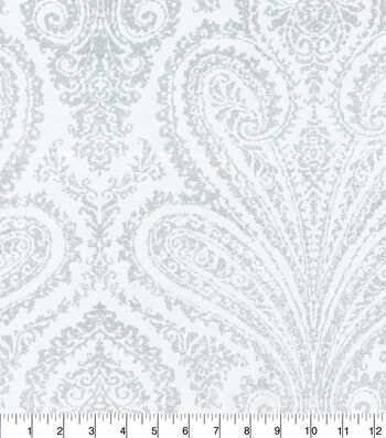 """Home Decor 8""""x8"""" Fabric Swatch-Waverly Paisley Aglow Frost"""