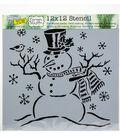 Crafter\u0027s Workshop Template 12\u0022X12\u0022-Mr Snowman