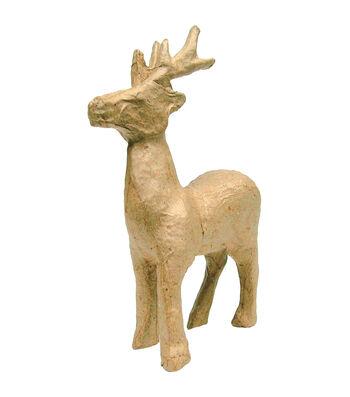 """Paper Mache Figurine 4.5""""-Reindeer"""