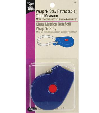 "Dritz Wrap'n Stay Retract Tape Measure-5/8""x60"""