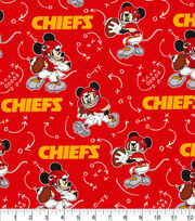 Kansas City Chiefs Cotton Fabric-Mickey Mouses, , hi-res