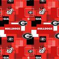 University of Georgia Bulldogs Cotton Fabric -Modern Block