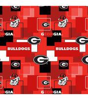 University of Georgia Bulldogs Cotton Fabric 43''-Modern Block, , hi-res