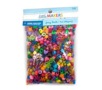 Little Makers Pony Beads 7oz Assorted