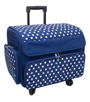 Everything Mary Extra Large Rolling Sewing Machine Case-Polka Dots