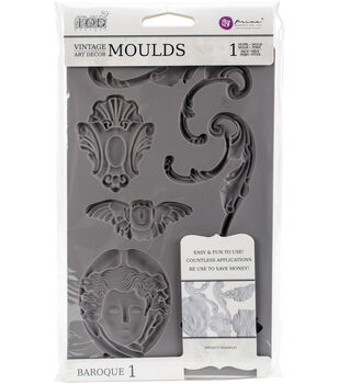 Prima Marketing Iron Orchid Designs Vintage Art Decor Mould-Baroque #1